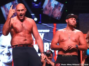 Tom Schwarz - This Saturday night on ESPN+ Tyson Fury makes his Las Vegas debut as the Gypsy King faces Tom Schwarz at the MGM Grand Garden Arena. Earlier in the afternoon on Saturday the World Boxing Super Series returns with what should be a quality doubleheader of action at the cruiserweight division. In the main event of the Semifinals, Marius Briedis takes on Krzysztof Glowacki and Andrew Tabiti versus Yuniel Dorticos in the co-feature on DAZN. All and all it shapes up to be a pretty good weekend that should produce more two-way action that last week's fights.