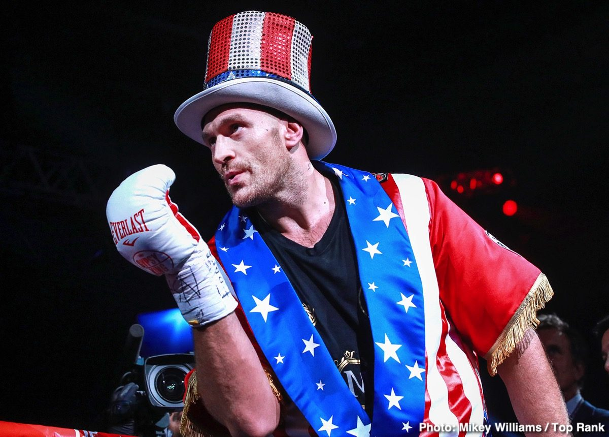Otto Wallin Tyson Fury Boxing News British Boxing