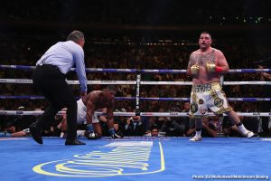 Andy Ruiz Jr, Anthony Joshua, Deontay Wilder - Deontay Wilder gave newly crowned IBF/WBA/WBO heavyweight champion Andy Ruiz Jr. (33-1, 22 KOs) praise for his upset seventh round knockout win over champion Anthony Joshua (22-1, 21 KOs) last Saturday night at Madison Square Garden in New York. WBC champion Wilder (41-0-1, 40 KOs) congratulated Ruiz for the victory, and becoming the first Mexican heavyweight world champion.