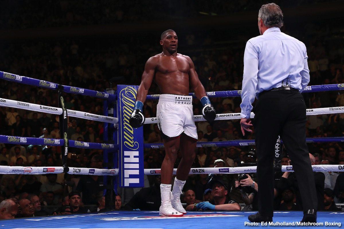 Anthony Joshua Lennox Lewis Boxing News British Boxing