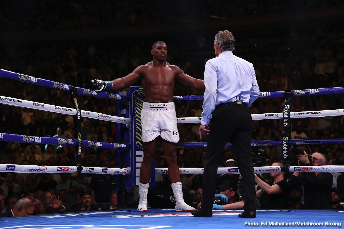 Anthony Joshua - There is no denying the fact that ex-WBA/IBF/WBO heavyweight champ Anthony Joshua will, in his projected and expected return fight with Andy Ruiz, face quite unimaginable pressure – of the mental kind mostly. Not only does Joshua need to redeem himself so as to be able to live with himself, such a born competitor as A.J is, there is plenty of talk, some from armchair fans, some from genuinely knowledgable fight folk, that says Joshua would have no alternative but to retire if he lost to Ruiz a second time.