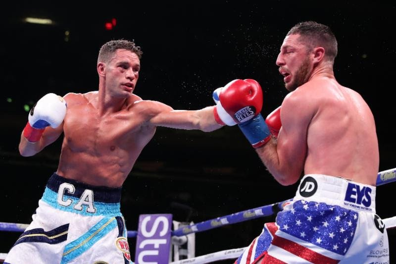 Chris Algieri - CHRIS ALGIERI (now, 24-3 9KO's) was very impressive in winning his first defense of the WBO International Title (140 lbs) against tough Brit, TOMMY COYLE (25-5 12KO's), at the mecca of boxing, Madison Square Garden Saturday.