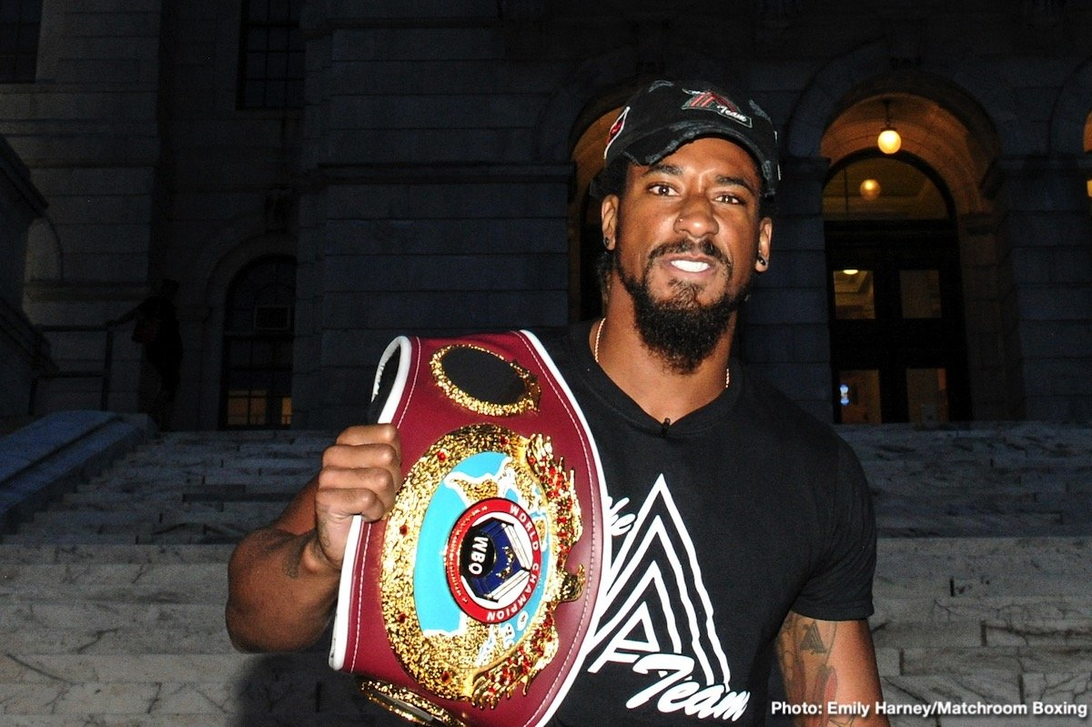 "Alex Leapai, Demetrius ""Boo Boo"" Andrade, Joseph Parker, Kal Yafai, Maciej Sulecki - Demetrius Andrade believes he's on the right path to prove he is the man at 160 lbs as he defends his WBO crown against Maciej Sulecki on Saturday night at the Dunkin' Donuts Center in Providence, Rhode Island, live on DAZN in the US and on Sky Sports in the UK."