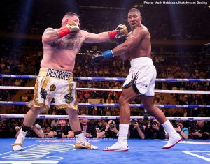 """Andy Ruiz - What is going on with former WBA/WBO/IBF heavyweight champ Anthony Joshua? This is the question plenty of fight fans find themselves asking right now due to the odd things AJ has had to say, firstly about Lennox Lewis, and now about his June stoppage loss to Andy Ruiz. Speaking on Sky Sports' 'AJ: The Untold Truth,' Joshua, when asked how he lost to Ruiz, replied, """"by a lucky punch."""""""