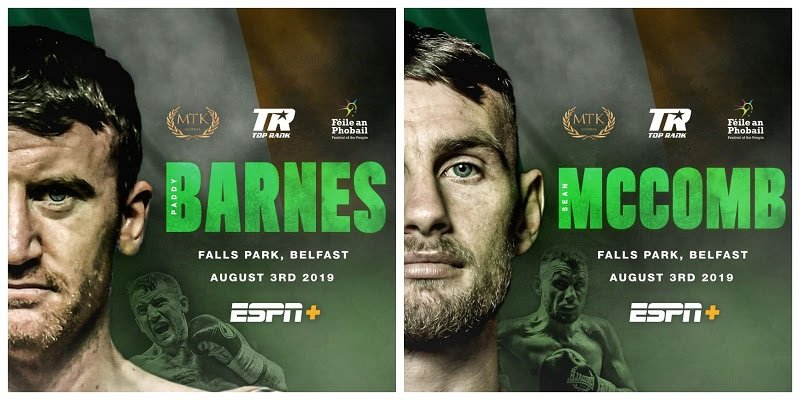 Paddy Barnes - MTK Global is delighted to announce a UK broadcast and promotional deal with Frank Warren of Queensberry Promotions and BT Sport for Michael Conlan vs. Vladimir Nikitin at Belfast's Féile an Phobail on August 3.