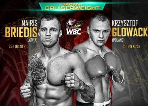 Krzysztof Glowacki, Mairis Briedis - In a drama-filled fight, Mairis Briedis (26-1, 19 KOs) unloaded on WBO champion Krzysztof Glowacki  (31-2, 19 KOs) with everything but the kitchen sink in knocking down twice in the process of scoring a third round knockout in the final of the WBSS cruiserweight  tournament on Saturday night at the Arena Riga in Riga, Latvia. Briedis knocked Glowacki down three times unofficially in the fight.