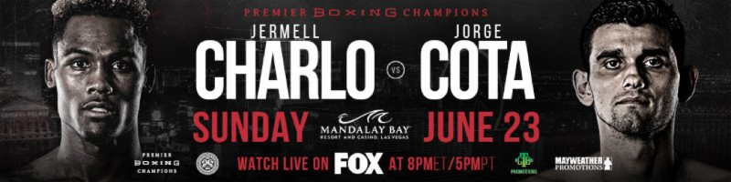 "Jermell Charlo, Jorge Cota - Unbeaten rising prospect Chris ""Prime Time"" Colbert will step into the ring against Puerto Rico's Alberto Mercado as the headliner of FOX PBC Fight Night Prelims on FOX and FOX Deportes Sunday, June 23 from Mandalay Bay Events Center in Las Vegas."