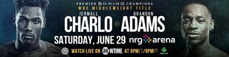 Brandon Adams - This Saturday night, middleweight Brandon Adams will become the 7th graduate of The Boxcino Tournament to fight for a world title when he takes on WBC Interim Middleweight champion Jermall Charlo at The NRG Arena in Houston. The bout will be the main event event of a SHOWTIME CHAMPIONSHIP BOXING® card, live on SHOWTIME at 9 p.m. ET / 6 p.m. PT.
