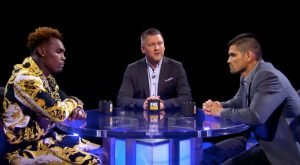 """Jorge Cota - Former world champion Jermell Charlo and dangerous contender Jorge Cota talked about their upcoming showdown when they met for """"PBC Face To Face"""" as they near their matchup this Sunday night that headlines FOX PBC Fight Night and on FOX Deportes from Mandalay Bay Events Center in Las Vegas."""