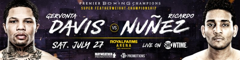 Gervonta Davis defends against Ricardo Núñez on 7/27 LIVE on