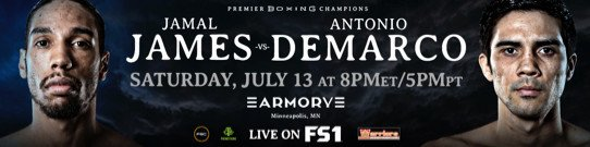 Jamal James - Former Heavyweight World Champion Charles Martin Battles Daniel Martz in FS1 PBC Fight Night Action & on FOX Deportes Saturday, July 13 from The Armory in Minneapolis - 8 p.m. ET/5 p.m. PT