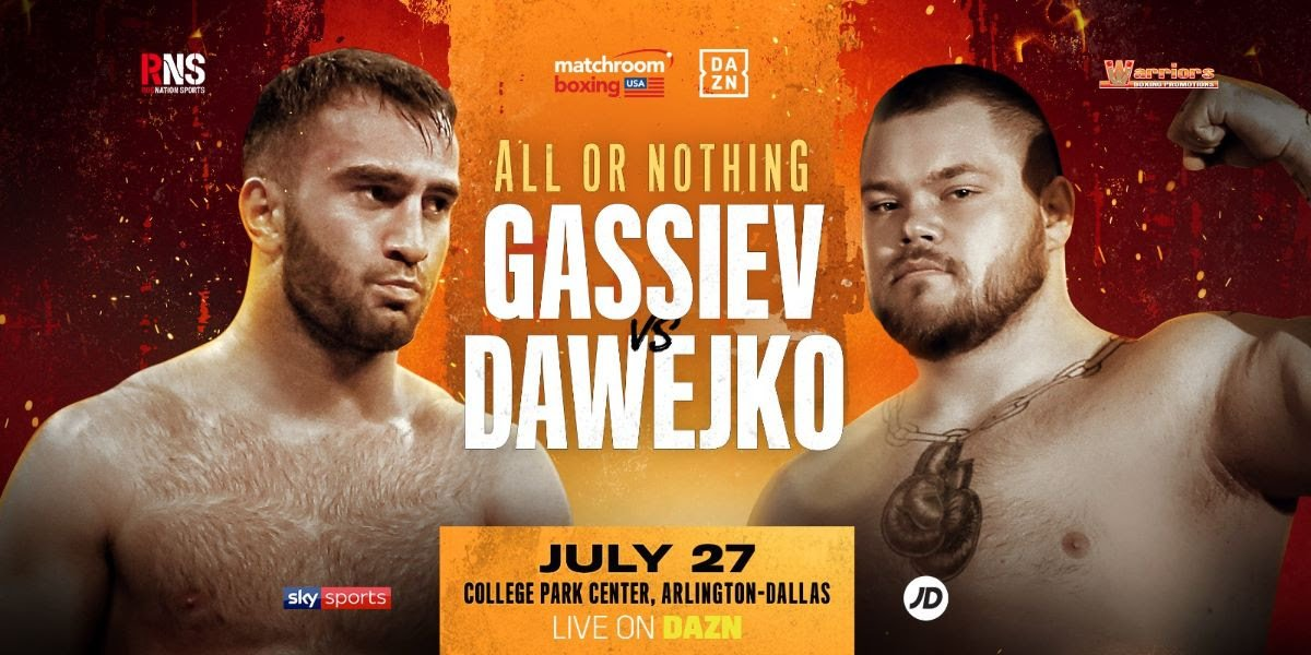 Murat Gassiev - Murat Gassiev will make his long-awaited Heavyweight debut against Joey Dawejko on Saturday July 29 at College Park Center in Arlington, Texas, live on DAZN in the US and on Sky Sports in the UK.