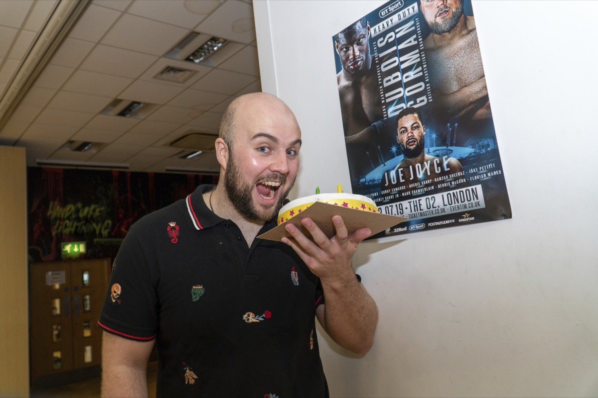 Nathan Gorman - NATHAN GORMAN has splattered arch rival Daniel Dubois by squashing him with his birthday cake (see link).