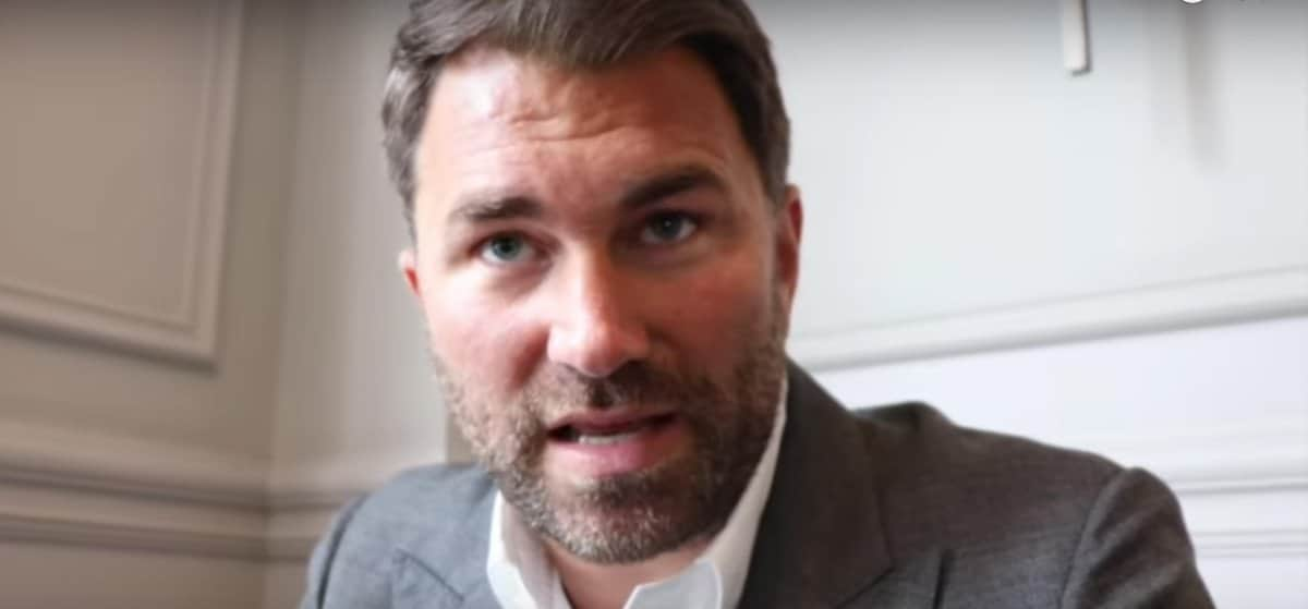 Eddie Hearn - As the coronavirus battle rages, many people are feeling the financial pinch. The health issues are of course the number-one concern, but money, and being able to earn it, is also a serious issue. And for young fighters yet to have broken into the big-money bracket, for small hall fighters and those boxers who have not got a sponsorship deal, the possibility that they may have to actually quit boxing and get another job are high. So says promoter Eddie Hearn, and this concerns him deeply.