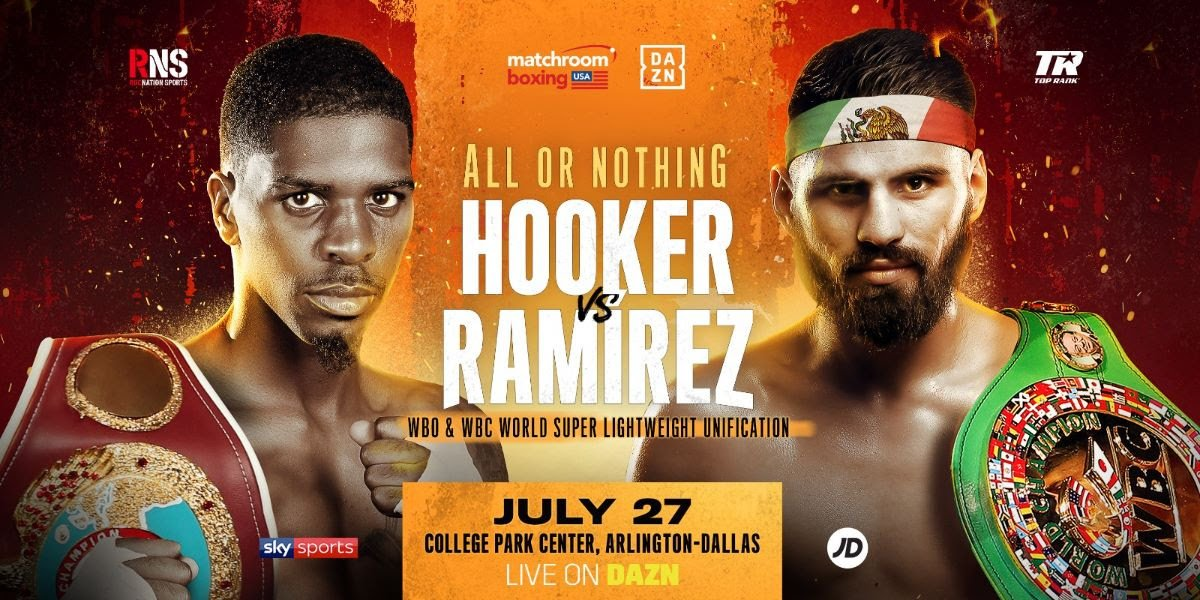 Maurice Hooker - Maurice Hooker and Jose Ramirez will clash in a World Super-Lightweight unification clash on Saturday July 27 at the College Park Center in Arlington, Texas, live on DAZN in the US and on Sky Sports in the UK.