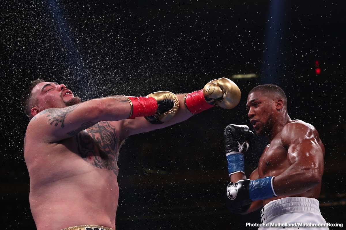 Andy Ruiz - There are two big and massively interesting heavyweight rematch fights that are soon to be upon us: Deontay Wilder-Luis Ortiz II, and Andy Ruiz-Anthony Joshua II. And two men are currently hungry, determined and looking at getting revenge, putting right the wrong they suffered by KO, by humbling stoppage.