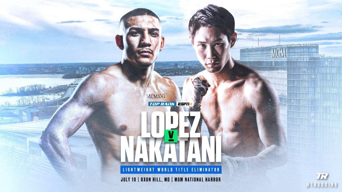 Masayoshi Nakatani Teofimo Lopez Boxing News