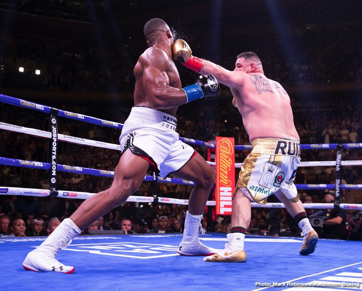Andy Ruiz Jr Anthony Joshua Tyson Fury Boxing News