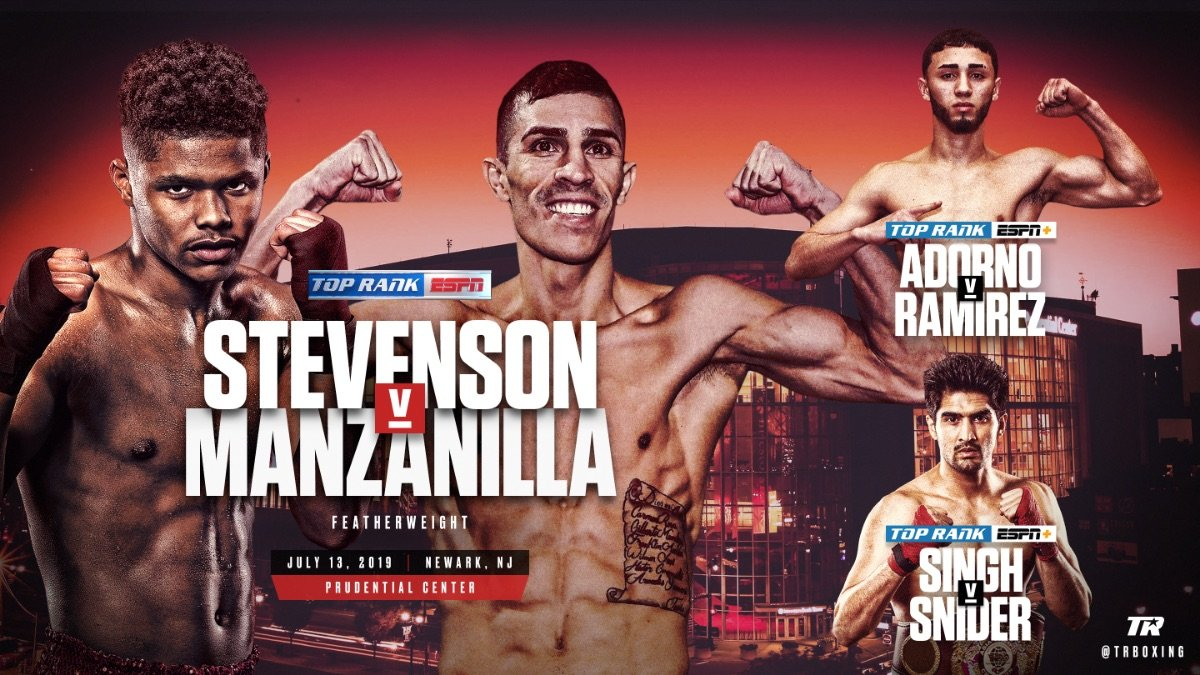 Shakur Stevenson - Newark native Shakur Stevenson has graduated from co-headliner to center stage performer. Stevenson, a 2016 Olympic silver medalist, will return home for the first time as a professional when he faces former world title challenger Franklin Manzanilla in a 10-round featherweight bout Saturday, July 13 at Prudential Center.