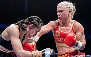 Dina Thorslund - MTK Global is delighted to announce the signing of WBO female super-bantamweight champion Dina Thorslund.