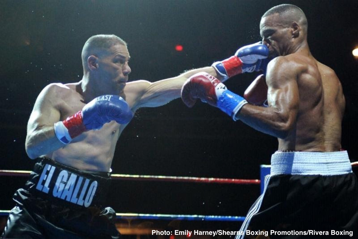 """Jose Antonio Rivera - Former three-time, two-division world champion """"El Gallo"""" Jose Antonio Rivera defeated former WFC titleholder Travis """"Sweet Feet"""" Scott in the main event via an eight-round split decision (77-74 and 76-75 for Rivera, and 76-75 for Scott) in his fifty and last fight."""