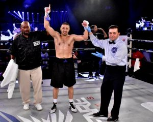Anvar Yunusov - Three-time Olympian, Anvar Yunusov remained perfect by stopping Angel Luna in the 2nd round of their scheduled eight-round junior lightweight bout.