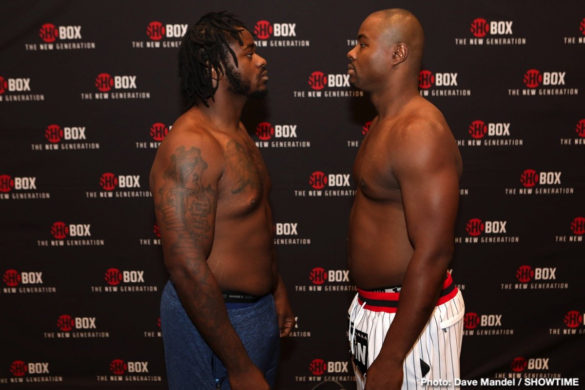 Giovanni Cabrera Mioletti - Heavyweight prospects Jermaine Franklin Jr., and Jerry Forrest both weighed in on Thursday for their ShoBox: The New Generation main event clash Friday night live on SHOWTIME (10 p.m. ET/PT) from Emerald Casino in Tacoma, Wash.