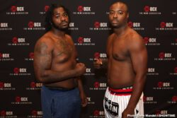 BJ Flores, Giovanni Cabrera Mioletti, Otto Wallin - Heavyweight prospects Jermaine Franklin Jr., and Jerry Forrest both weighed in on Thursday for their ShoBox: The New Generation main event clash Friday night live on SHOWTIME (10 p.m. ET/PT) from Emerald Casino in Tacoma, Wash.