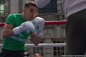 "Michael Conlan - Michael ""Mick"" Conlan emerged from Belfast City Hall and walked up the steps of the makeshift ring set up outside in Donegall Square. In the center of the city, Conlan, the fighting pride of Belfast, took center stage."