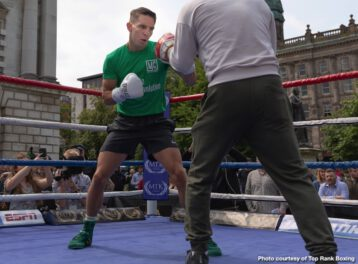 """Michael Conlan - Michael """"Mick"""" Conlan emerged from Belfast City Hall and walked up the steps of the makeshift ring set up outside in Donegall Square. In the center of the city, Conlan, the fighting pride of Belfast, took center stage."""