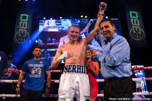 Press Room -  World Ranked Junior Middleweight Serhii 'El Flacco' Bohachuk, (18-0, 18 KOs), continued his torrid streak with a sixth-round stoppage of Alejandro 'Pajaro' Davila, (21-2-2, 8 KO's) as he defended his WBC Continental Americas Title in the scheduled ten-round main event at the Grupo SIPSE TV Studios in Merida, Yucatan, Mexico.
