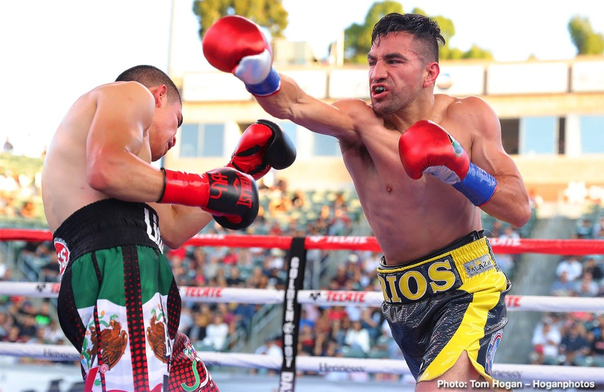 "Diego De La Hoya, Ronny Rios - We saw an upset last night in Carson, California, as highly favoured, unbeaten wannabe star Diego De La Hoya was stopped in the sixth-round by former WBC title challenger Ronny Rios. De La Hoya, famous due to his surname but also a fine fighter in his own right, was the favourite to defeat Rios and take the WBA ""Gold"" super-bantamweight strap whilst also defending his NABF title."