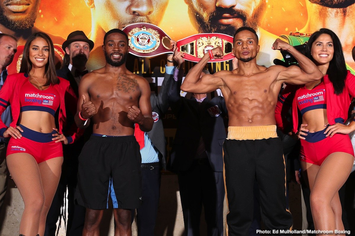 "Tevin Farmer, Tramaine Williams, Yenifel Vicente - IBF Super Featherweight World Champion Tevin ""The American Idol"" Farmer (29-4-1, 6 KOs), of Philadelphia, PA, will make the fourth defense of his world title against mandatory challenger Guillaume ""L'Expert"" Frenois (46-1-1, 12 KOs), of Saint-Quentin, France, in a scheduled 12-round bout, which will be telecast live on DAZN beginning at 9:00 p.m. ET/6:00 p.m. PT from the College Park Center in Arlington, TX."