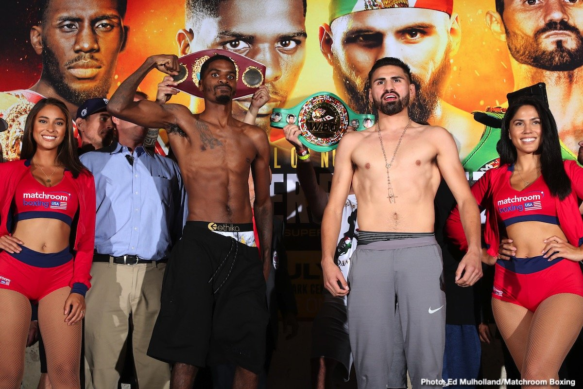 Jose Ramirez, Maurice Hooker - This Saturday night on DAZN Jose Ramirez and Maurice Hooker take part in a unification separator bout at the junior welterweight division. Later in the year during the fall another separation fight will take place in the finals of World Boxing Super Series between Regis Prograis and Josh Taylor. As we know styles make fights and style often produces a consistent result at the top levels. Ramirez will be the aggressor while Hooker will look to land clean shots on the outside using length. These types of matchups tend to be debated in an ongoing overall argument about who actually won the fight. Las Vegas betting odds call for yet another 50-50, a rarity in consecutive weekends featuring marquee matchups.