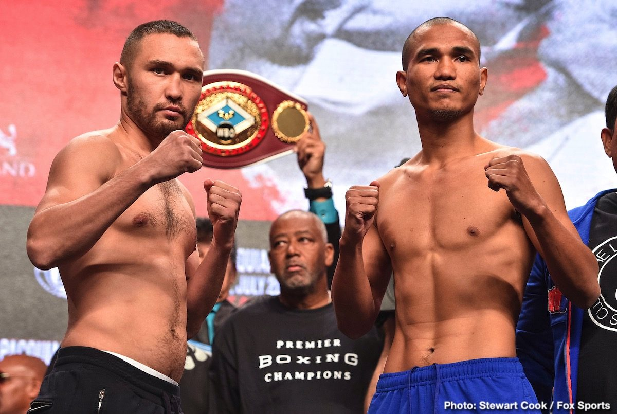 John Molina jr. Keith Thurman Manny Pacquiao Omar Figueroa Jr. Sergey Lipinets Yordenis Ugas Press Room