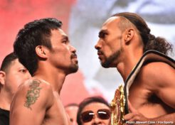 Keith Thurman, Manny Pacquiao - he biggest fight of the year so far is happening this Saturday night at the MGM Grand Garden Arena in Las Vegas, Nevada. Future first ballot Hall of Famer, Manny Pacquiao returns to his home away from home to face the undefeated Keith Thurman. The main event is a 50-50 fight on paper and the undercard is stacked with can't miss action across the board. For Manny a win over a fighter 10 years younger would be a great accomplishment at the age of 40. For Thurman, a decisive victory of Pacquiao would catapult his career to new heights.