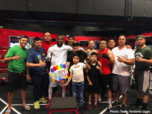 """Omar Figueroa Jr., Yordenis Ugas -  Welterweight contender, Yordenis Ugas (23-4, 11 KOs) wrapped up his final day of training camp and talks about his up coming showdown with Omar Figueroa Jr. (28-0-1, 19 KOs), a 12-round bout that will serve as the co-main event to Senator Manny """"Pacman"""" Pacquiao vs. WBA Welterweight World Champion Keith """"One Time"""" Thurman, ahead of their Premier Boxing Champions on FOX Sports Pay-Per-View main event this Saturday from the MGM Grand Garden Arena in Las Vegas."""