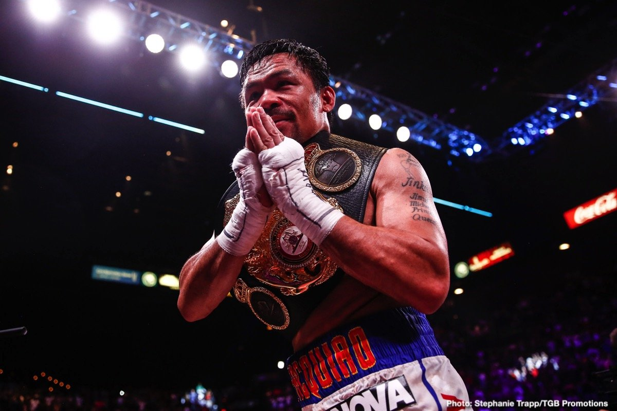 Keith Thurman Manny Pacquiao Boxing News Boxing Results Top Stories Boxing