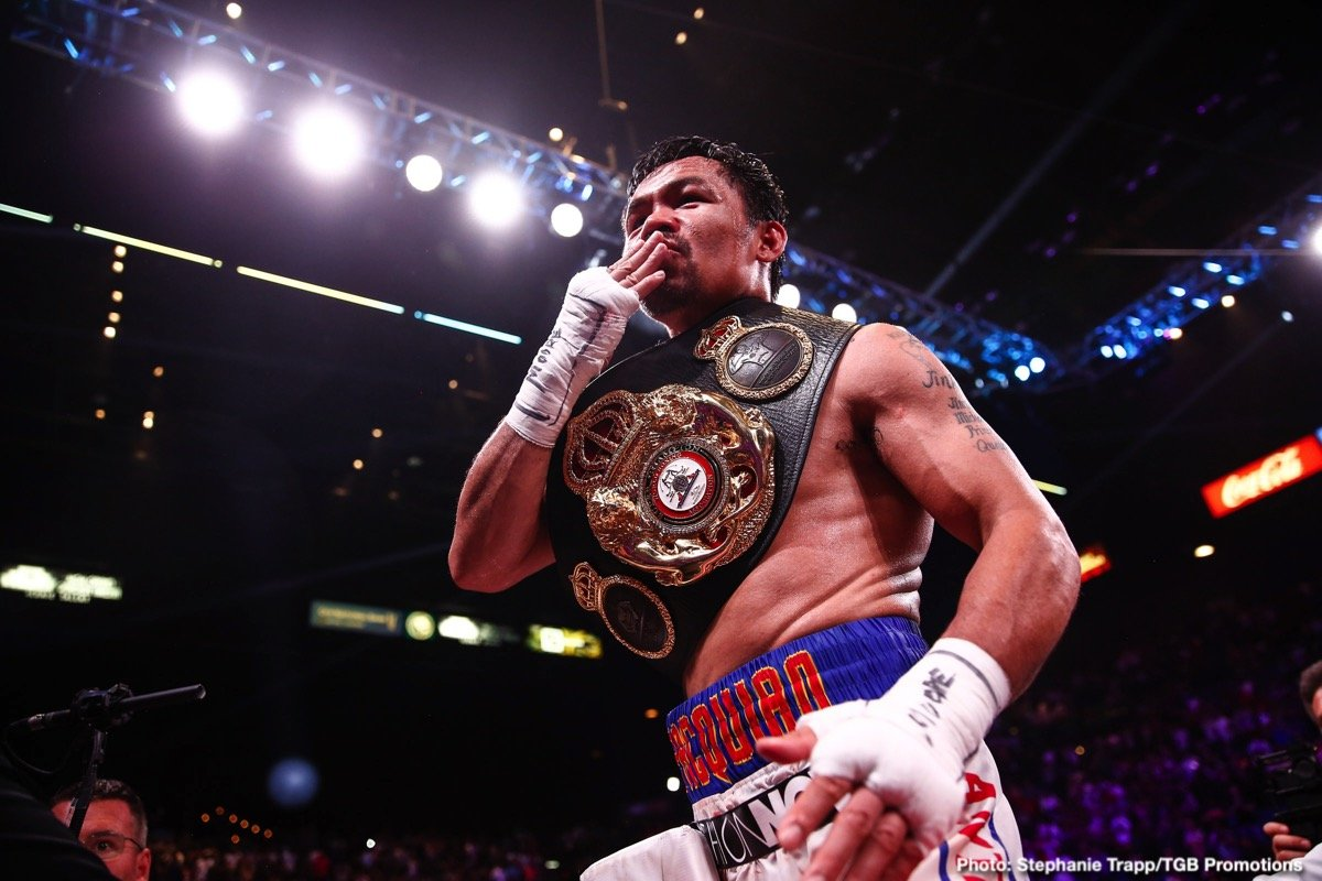 Manny Pacquiao - It's not locked down yet, but the word is Manny Pacquiao will very possibly fight a Garcia in his next fight: Danny or Mikey. This is the likely scenario according to Manny's right-hand man, Mike Gibbons.
