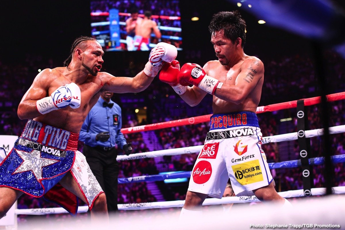 Manny Pacquiao, Terence Crawford - Terence Crawford sounded confident last Saturday night after winning over Kell Brook that he'll be facing Manny Pacquiao next. It might be a deluded pipedream on Crawford's part, as Pacquiao's team are reportedly interested in facing Mikey Garcia next.
