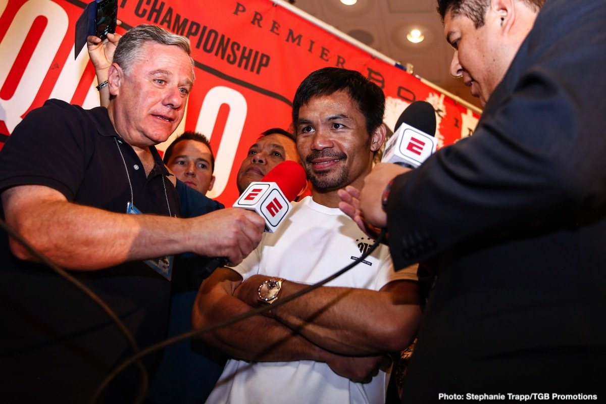 """Gennadiy Golovkin, Manny Pacquiao - Fight fans everywhere await living legend Manny Pacquiao's next move; his next fight. There was some talk a while back of the all-time great perhaps going up against none other than Gennady Golovkin – a fully-fledged middleweight. Freddie Roach started the chatter, saying how """"maybe"""" Manny would consider going """"even higher."""" Freddie mentioned GGG, along with one or two other guys, and plenty of people ran with it, thinking there was a real chance Pac Man would fight GGG later this year."""
