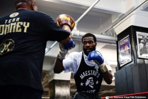 """Marcus Browne - Undefeated Polish star and Brooklyn native Adam Kownacki and former heavyweight title challenger Chris """"The Nightmare"""" Arreola showed off their skills at world famous Gleason's Gym on Wednesday as they near their main event showdown that headlines FOX PBC Fight Night this Saturday from Barclays Center, the home of BROOKLYN BOXING™."""