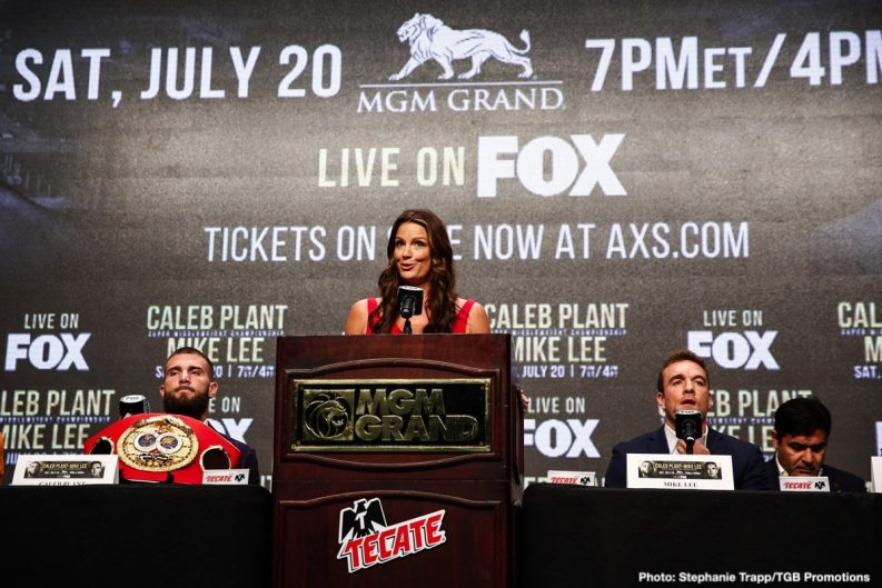 Caleb Plant Efe Ajagba Mike Lee Boxing News Top Stories Boxing