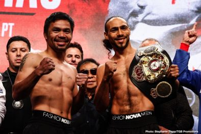 Keith Thurman Manny Pacquiao Boxing News