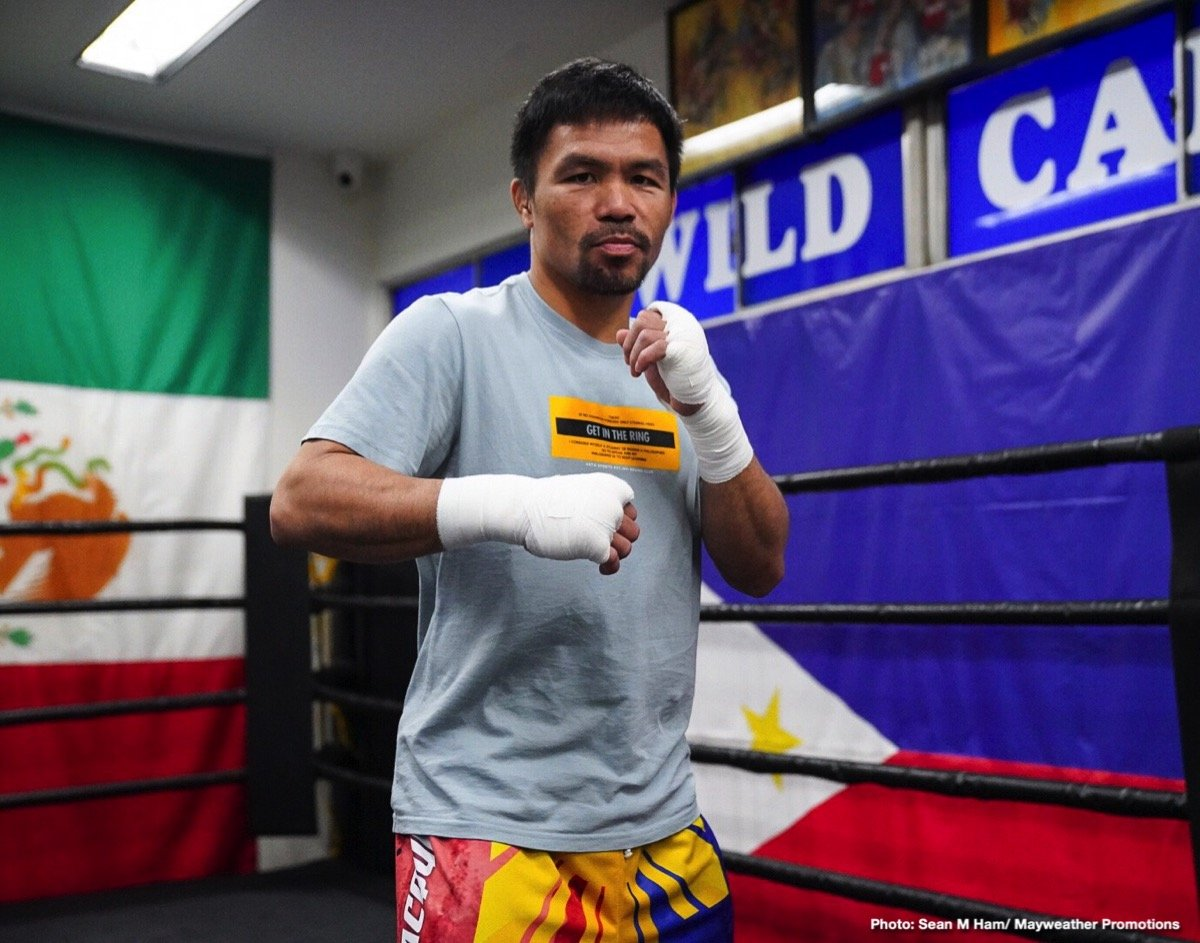 """Ray Flores           - Thank you very much to the media joining us from all over the world, we are beyond excited for next Saturday, July 20, from the MGM Grand Garden Arena in Las Vegas -- PBC on FOX Sports Pay-Per-View -- all starting at 9:00 ET/6:00 PT. It is headlined by the eight-division champion Senator Manny """"PacMan"""" Pacquiao battling the WBA Welterweight World Champion Keith """"One Time"""" Thurman in the main event."""