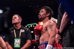 Caleb Plant, Juan Carlos Payano, Keith Thurman, Luis Nery, Manny Pacquiao, Mike Lee, Omar Figueroa Jr., Sergey Lipinets, Yordenis Ugas - Manny 'Pac Man' Pacquiao (62-7-2, 39 KOs) looked like he found the Fountain of Youth tonight in beating WBA Super World welterweight champion Keith 'One Time' Thurman (29-1, 21 KOs) by a clear cut 12 round split decision on Saturday night to dethrone the Florida native at the MGM Grand in Las Vegas, Nevada. The Pacquiao-Thurman fight was shown on Fox Sports Pay-Per-View.