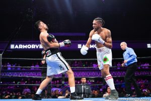 """Jamal James -  Welterweight contender and Minneapolis-native Jamal """"Shango"""" James defeated former world champion Antonio DeMarco by unanimous decision Saturday in an exciting action fight that headlined FS1 PBC Fight Night and on FOX Deportes from The Armory in Minneapolis."""