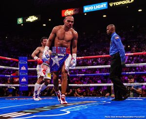 Keith Thurman - So What's Next For Manny? It was a year ago today when all-time great Manny Pacquiao scored his big win over an undefeated Keith Thurman. The win of 365 days ago saw Pacquiao, aged 40, pull off yet another big and meaningful victory that further cemented his greatness. But since then, though we have heard plenty of names mentioned as possible foes for Pac-Man, there has been nothing signed and sealed.