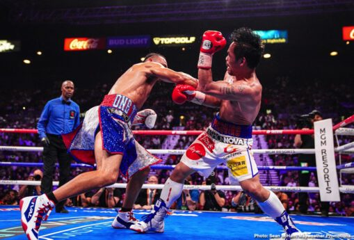 Manny Pacquiao - Keith Thurman vowed to end the long career of the great Manny Pacquiao, yet instead, last night in Las Vegas, the now former WBA welterweight champion found out first-hand just how great Pacquiao is. How special he is. How Pac Man is a one of a kind fighter.