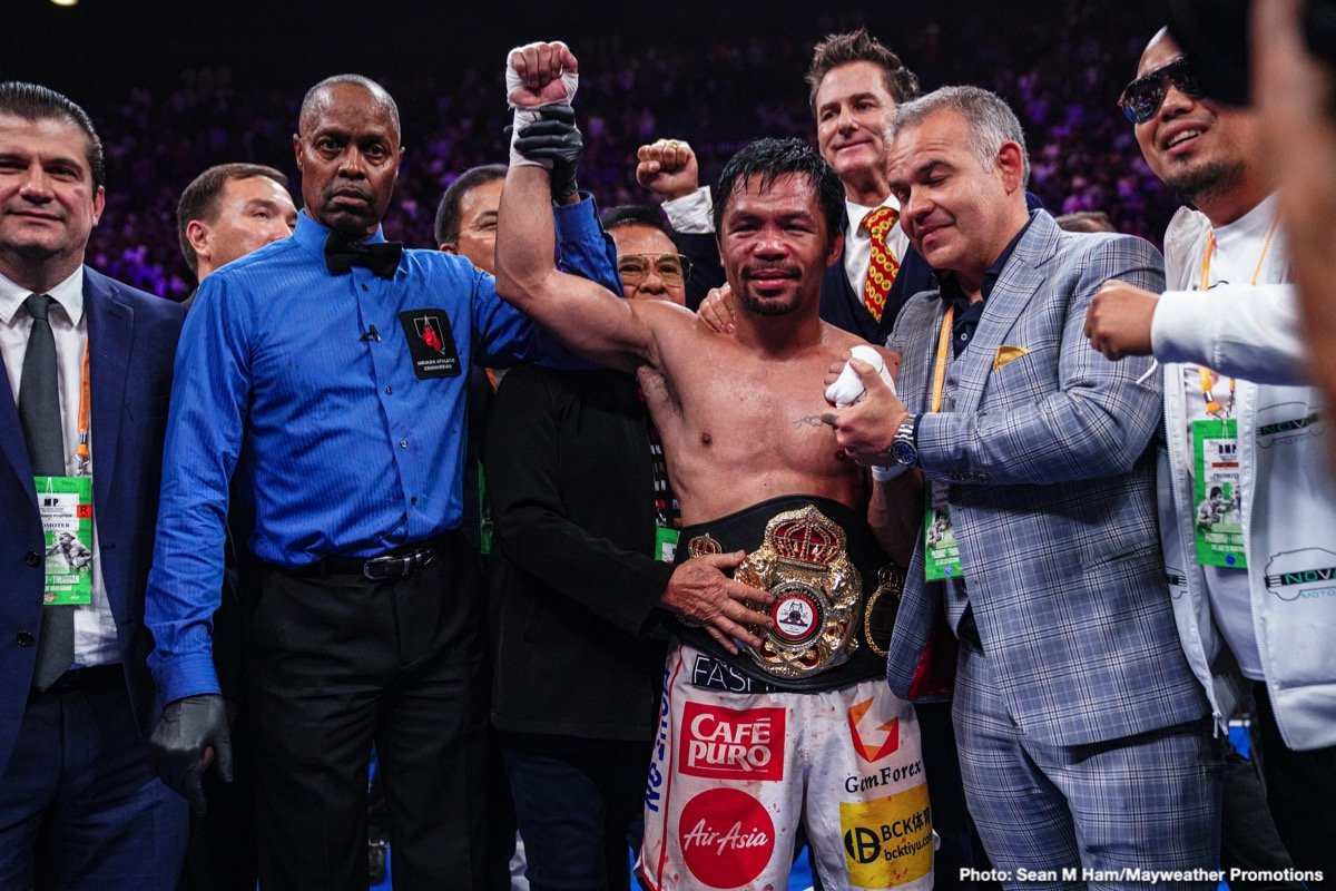 Freddie Roach, Gennadiy Golovkin, Manny Pacquiao, Mikey Garcia - Just who might superstar and living legend Manny Pacquiao fight next? It's coming up a full year since the incredible 41-year-old last dazzled us all in the ring; his July 2019 decision win over an unbeaten Keith Thurman, adding even more luster to Pac-Man's astonishing legacy.